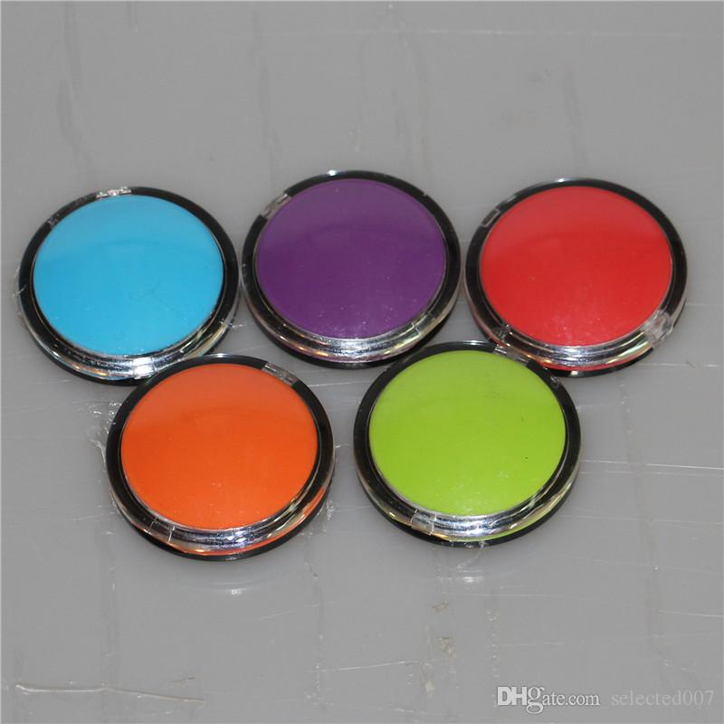 High Quality cosmetic Acrylic 6ml makeup silicone jars dab wax container for wax bho containers e-cig clear silicon oil jars