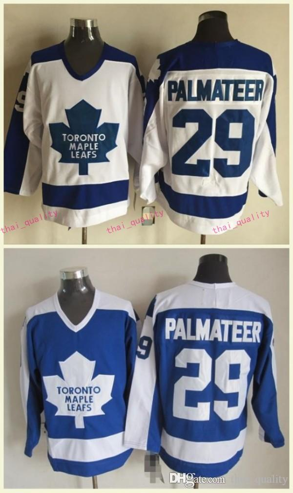 2019 New Mike Palmateer Toronto Maple Leafs Hockey Jersey Vintage 1978 CCM  Classic 29 MIKE PALMATEER Maple Leafs Home Jerseys Stitched Logo From ... 1d5cda7b873
