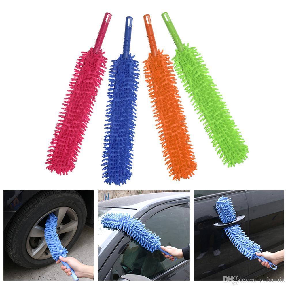 1 قطع 16 بوصة مرنة غسيل السيارات فرشاة طويلة ستوكات المعكرونة الشنيل سبيكة عجلة الأنظف تنظيف السيارة أداة