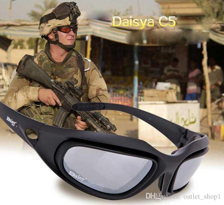 039da162d333c Daisy C5 Polarized Safety Glasses Tactical Army Goggles Outdoor ...