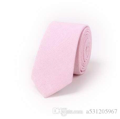 99b27c1de10d Mens Slim Narrow Tie High Quality Cotton Linen Neck Ties Man Classic  Business Skinny Tie Solid Color Pink Yellow Blue Silk Ties Ties Bow Tie  Cinemas From ...