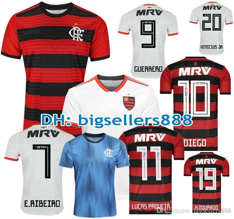 c71d73a465 Compre Camisa Flamengo Jersey 2018 2019 Chandal Flamengo Jersey 18 19  Brasil Flamengo Fora Casa ELANO HERNANE Camisas De Futebol Camisa Esportiva  MULHERES ...
