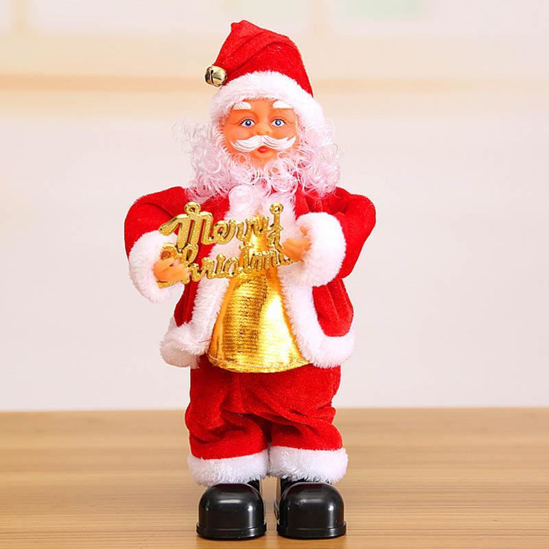 44c4c85122452 Cute Santa Claus Dancing Singing Music Toy Plush Christmas Dolls Electric  Toys Saxophone Guitar HG99 Christmas Outdoor Decorations On Sale Christmas  Outlets ...