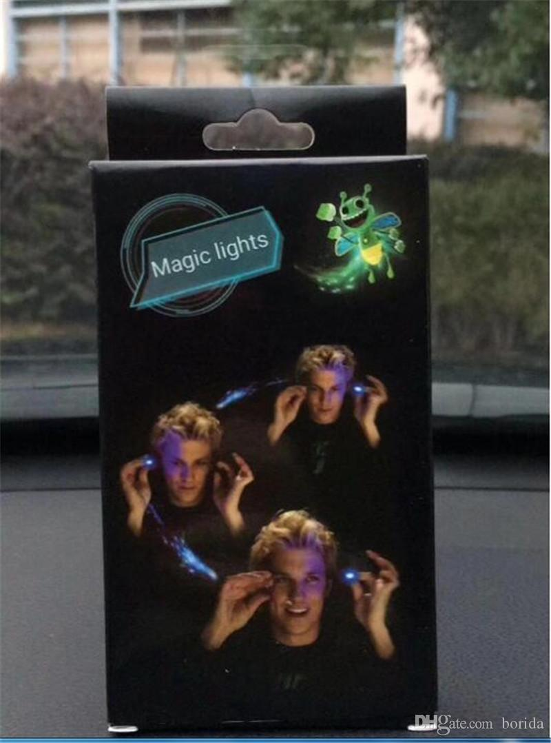 New arrival mini finger magic bee magically flies flash Magic lights for Bright bugz with projection cell phone finger toy magic lights