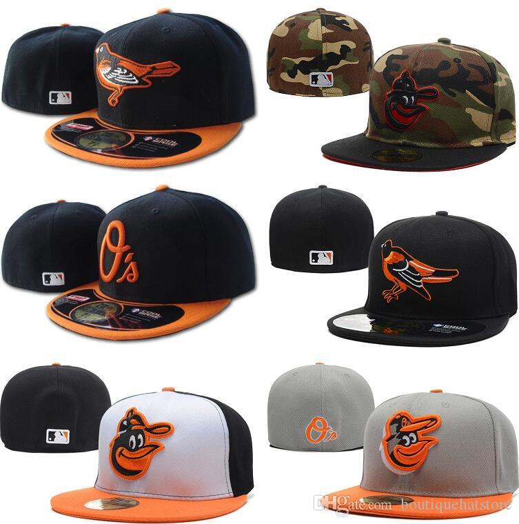 07fd4876e53 Men S Orioles Fitted Hat Flat Embroiered Team A Letter Logo Fans Baseball  Hats Baseball Cheap Caps Orioles On Field Full Closed Cap Superman Cap Hat  ...