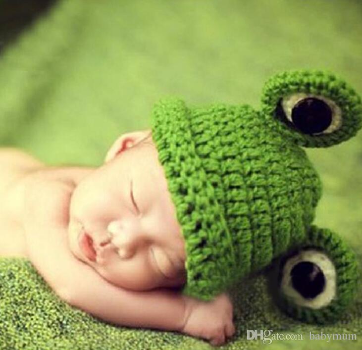 Compre tejido a mano gorro de lana gorro de rana infantil para niña jpg  731x707 Sombreros 4b7020550f4
