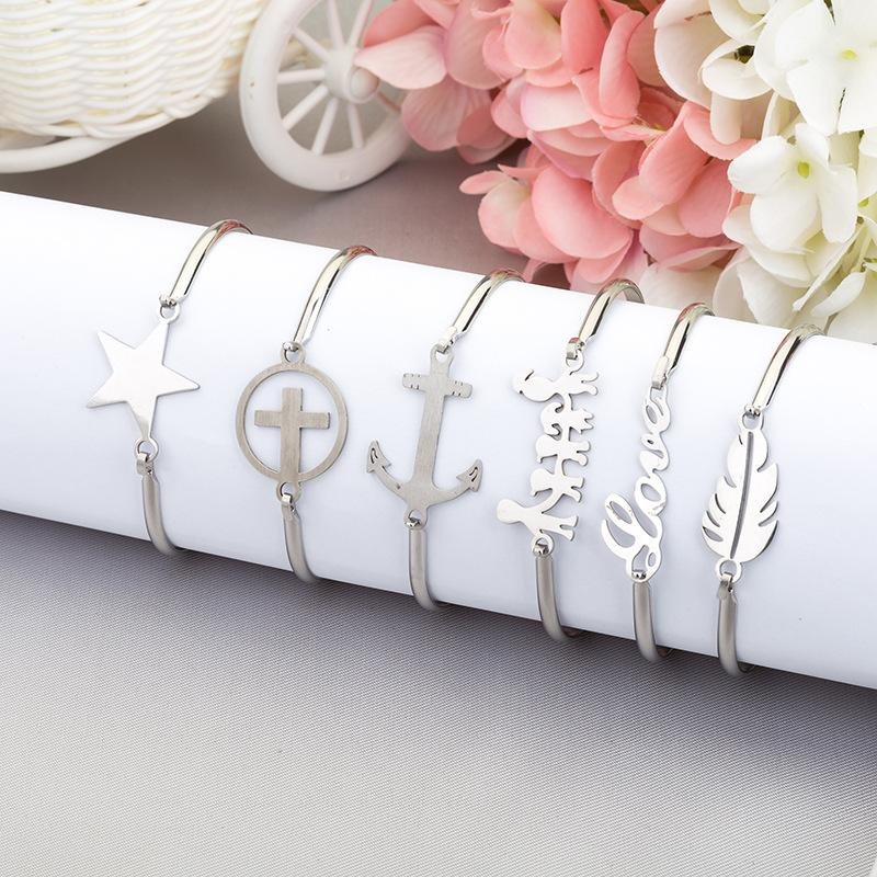 Tree Anchor Leaf Cross Heart Family infinity Friend Bangle nickle fashion new cuff Bangle bracelet jewelry 12 styles for choose