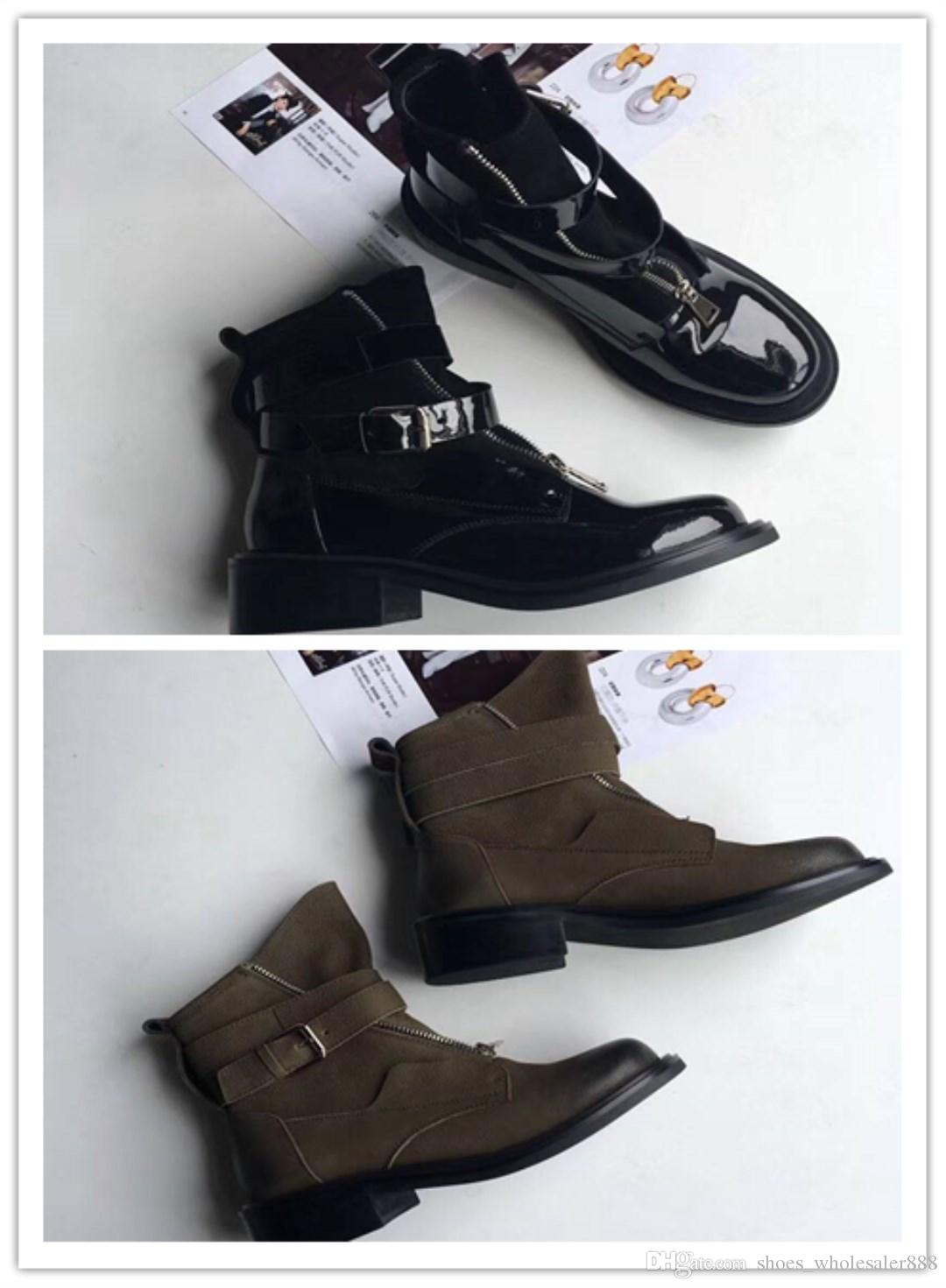 Original mold making top cowhide vamp Italy imports leather outsole The lining sheepskin women's low heel ankle boots