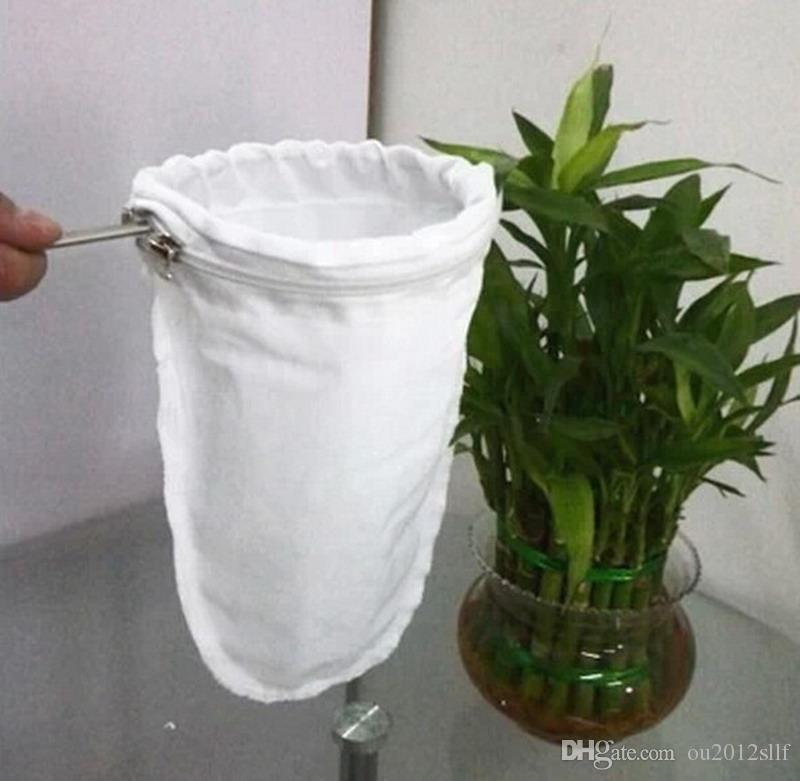 Leite estilo Hong Kong / chá / café sacos de filtro com alça de aço inoxidável Cozinha Colanders Strainers
