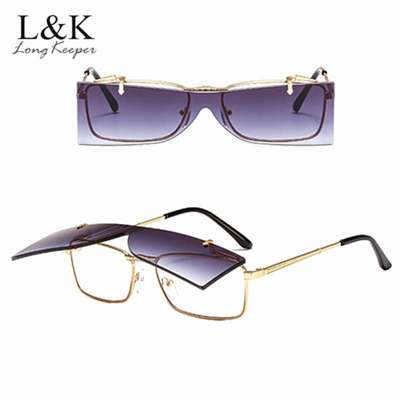8b71d553c2 Compre 2018 Nuevas Gafas De Sol Retro Vintage Hombres Doble Lente Gafas De  Sol Mujeres Diseñador De La Marca De Moda Rectángulo Llano Anteojos UV400 A  ...