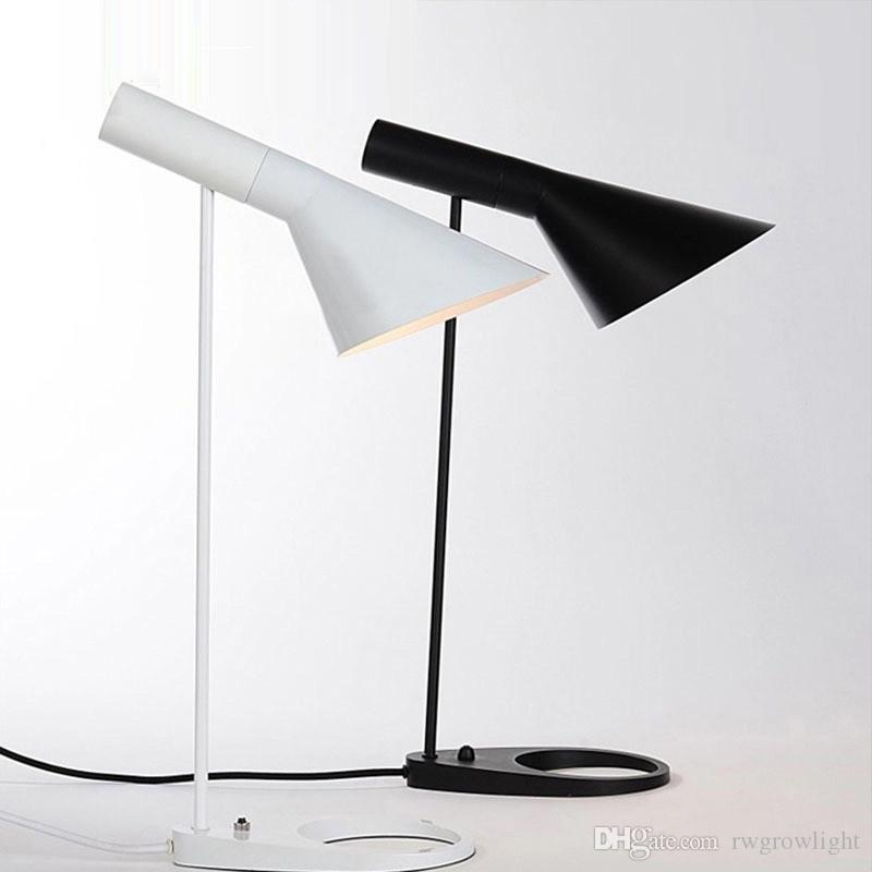 2019 Modern Designer AJ Table Lamp Black White Can Adjust Up And Down Desk  Lamp For Bedroom Study Office Dining Room , Drop Ship From Rwgrowlight, ...