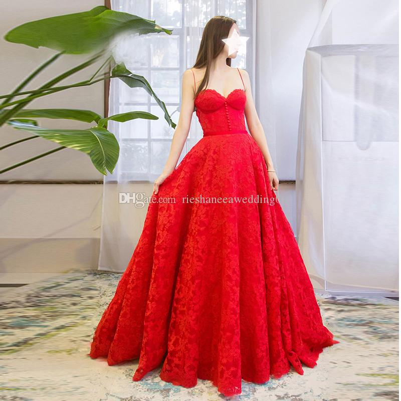 Lace Sexy Red Colorful Wedding Dresses 2018 Custom Made Spaghtti Criss Cross A-Line Court Train Backless Bride Gowns Vestido De Noiva
