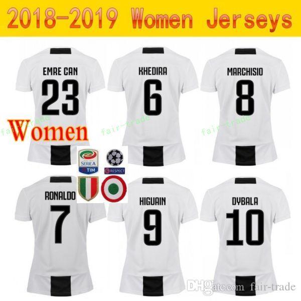 a4b2b9e0c 2019 18 19 Season Juventus Women Jerseys RONALDO FC Lady Soccer DYBALA  MANDZUKIC MATUIDI BONUCCI PJANIC Football Shirt Kit Woman Home White From  Fair Trade
