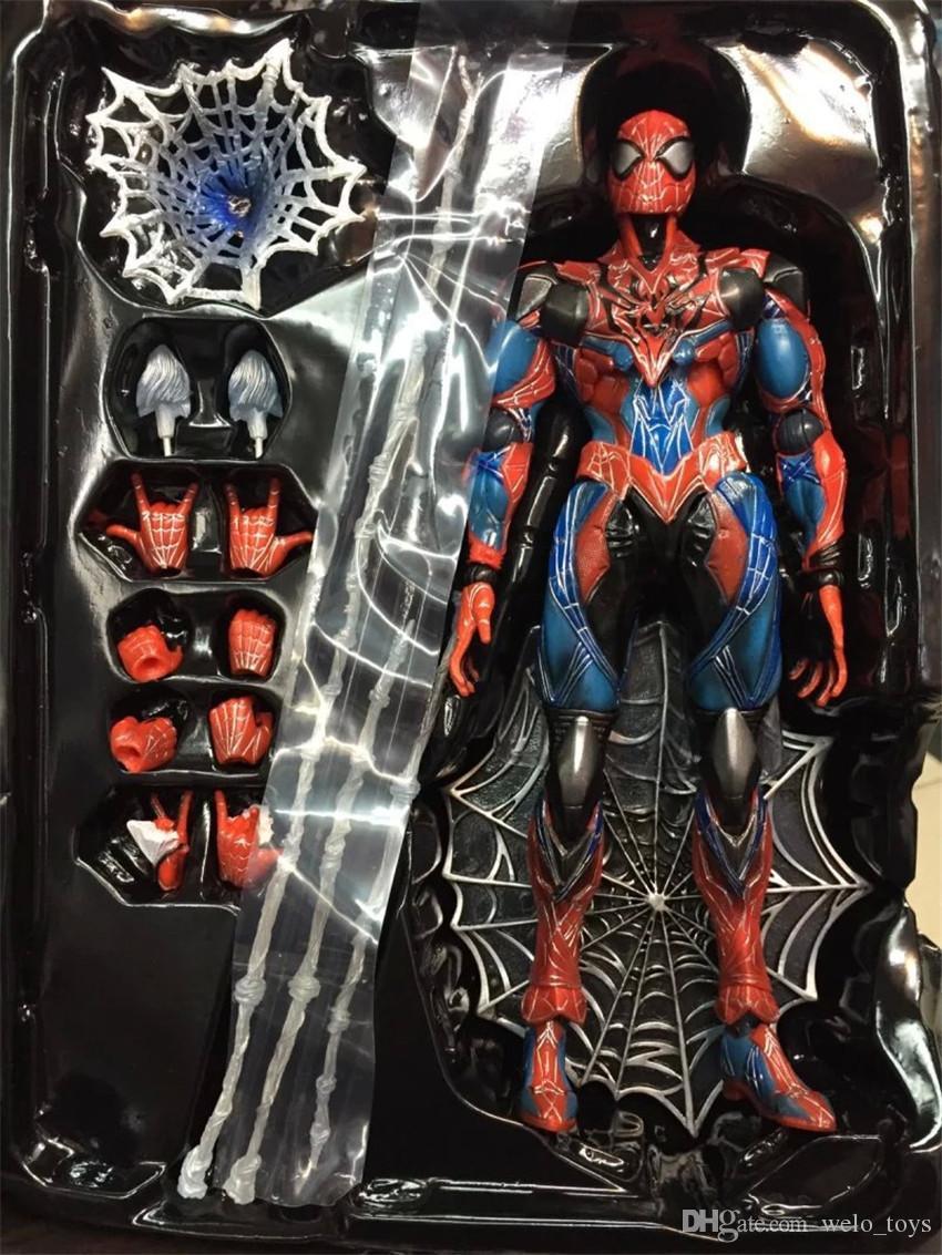 Figuras de Ação Homem Aranha PA Movable PVC Figuras Bonecas Brinquedos para Crianças 26 CM Jogar Artes Brinquedo Collectible PVC com Caixa de Cor