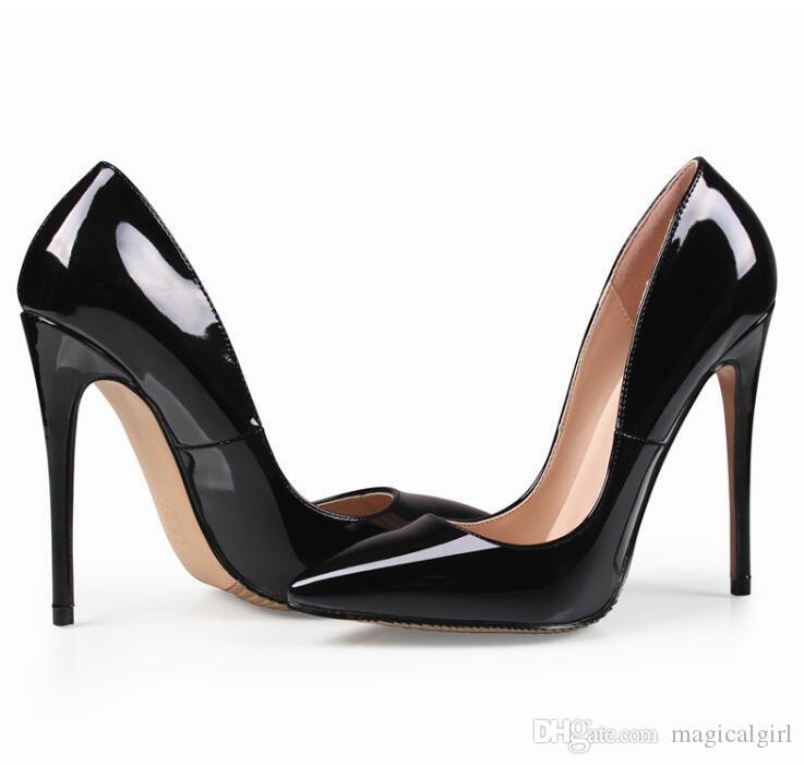 {Original Box}Classic Women Brand Red Bottom High Heels Patent Leather Pointy Toe Dress Shoes Luxury Shallow Mouth Red Sole Wedding Shoes cheap enjoy lowest price online clearance exclusive sale 2014 newest WRmFzjXtH