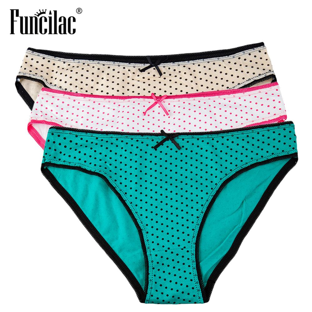 a03b1831ebcd 2019 FUNCILAC Brand Underwear Women Dot Print Sexy Panties Cotton Ladies Briefs  Knickers For Female Underwear Calcinha Lingerie From Honjiao, ...