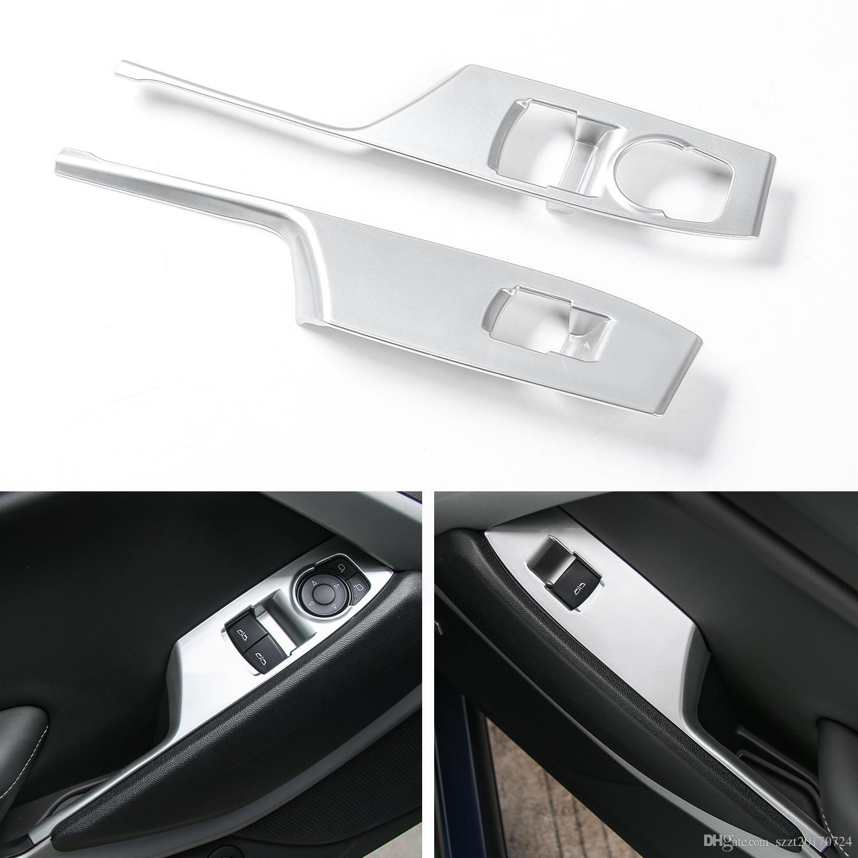 Puerta del coche Elevador de la ventana Botón de Reposabrazos Interruptor Cubierta del Panel Recortar ABS Decoración Tira Para Chevrolet Camaro 2017 + Auto Interior Accesorios