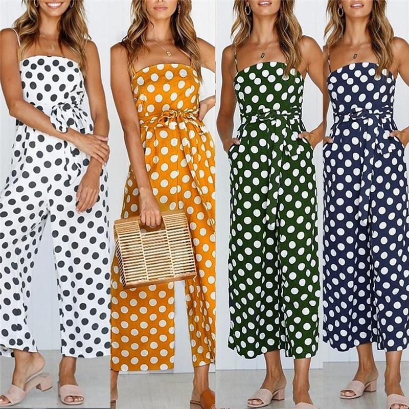 776495649f67 Women Fashion Summer Sexy Sleeveless Strap Bob Jumpsuits Casual Loose Wide  Leg Pants Wide Leg Pants Jumpsuits Bob Jumpsuits Online with  16.23 Piece  on ...