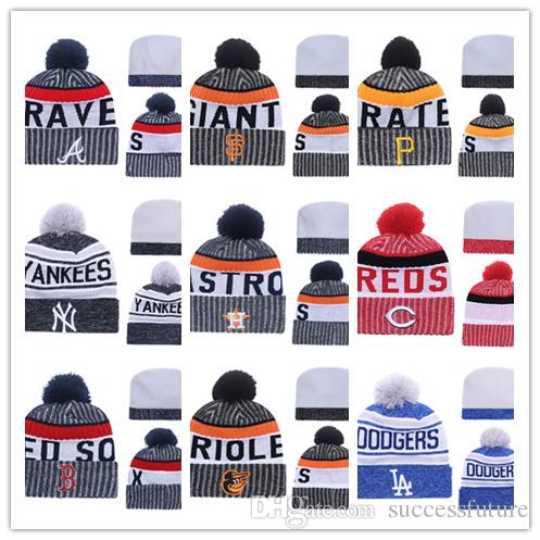 a0dfde642ee Wholesale Winter Beanie Knitted Hats Sports Teams Baseball Football  Basketball Beanies Caps Women Men Winter Warm Hat DHL Sports Beanies Online  with ...