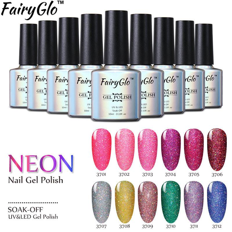 Fairyglo /Bling Gel Polish Buffer File Uv Led Neon Gel Nail Polish ...