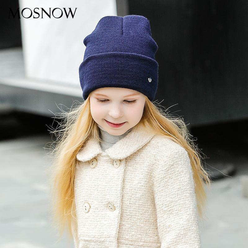 Acquista MOSNOW Cappelli Invernali Bambini Ragazzi Ragazze Bambino Cotone  Brand New 2018 Moda Di Alta Qualità Lavorato A Maglia Beanie Skullies  Bonnet ... 8e96810b3eac