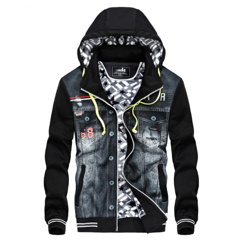 Winter Hooded Mens Coats Jackets Men Cool Clothes