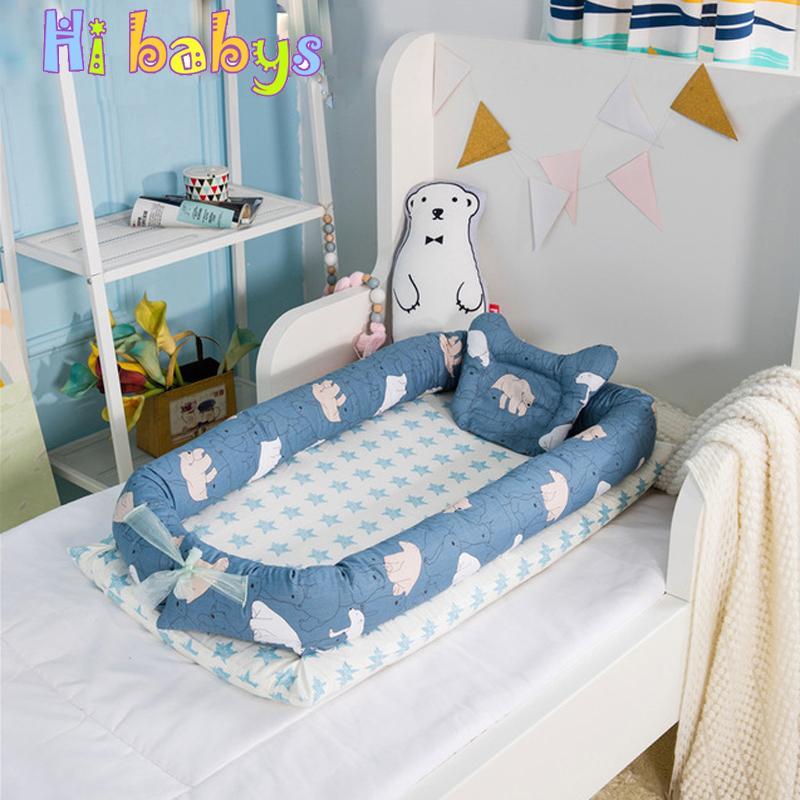 0fa2a58cd670 Baby Bed Portable Sleeping Cradle Newborn Crib Children Travel Bed ...