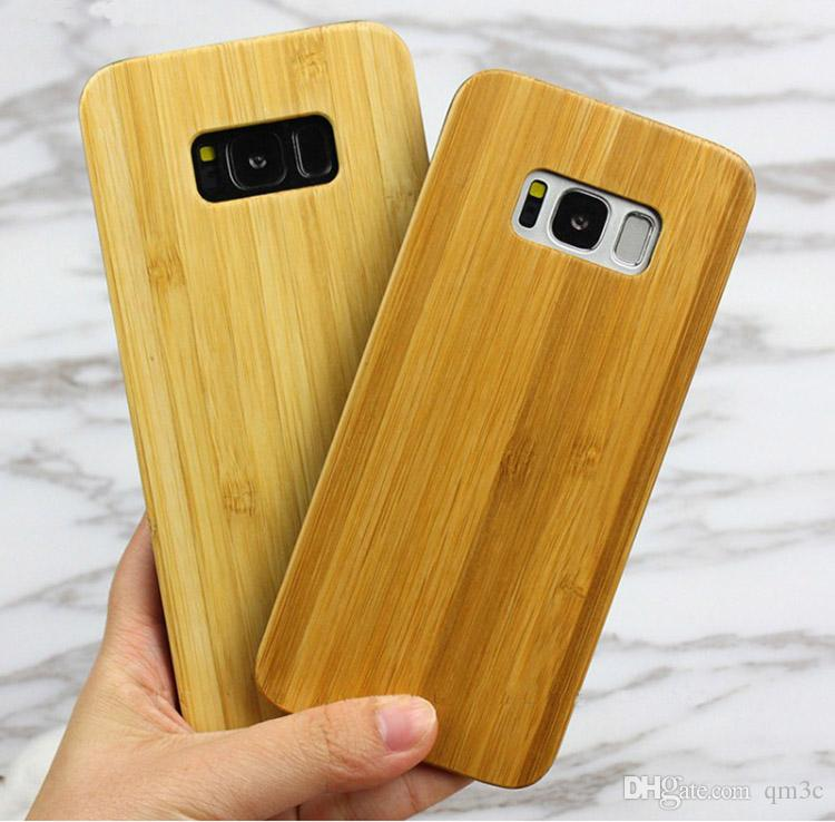 size 40 5a215 fa60e Popular Hot sale Wood Case For Samsung Galaxy S8 S9 plus Note 8 S7 s6 edge  Wooden Cover Bamboo Case For Iphone X 7 8 6 6s plus Free DHL