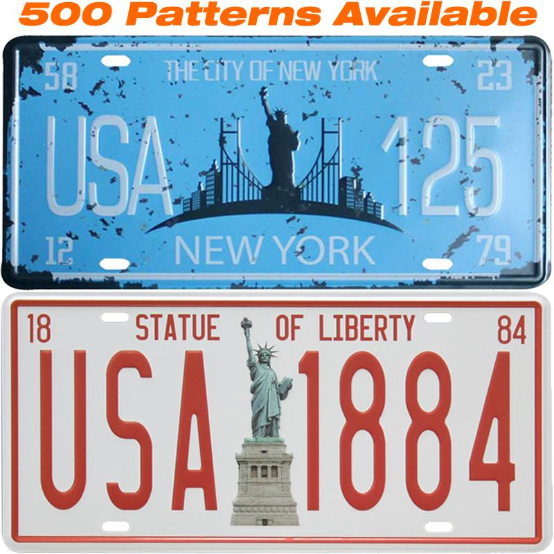 2018 Statue Of Liberty Car License Plate Usa Vintage Home Decor Tin ...