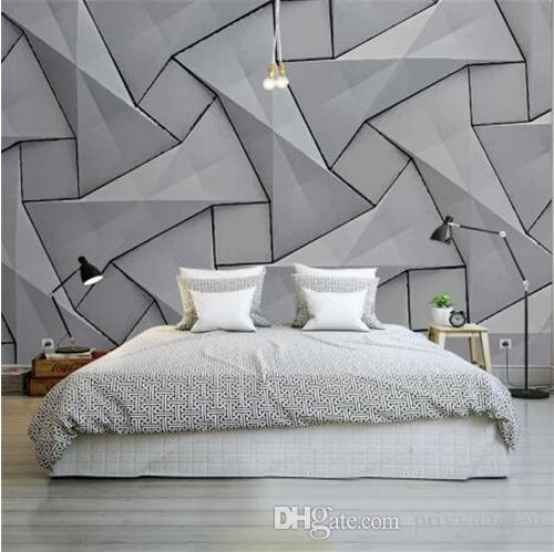 Modern 4D Wall Paper for Walls Cement Silk Cloth Wallpapers Stereoscopic  Gray Mural Bedroom Living Room Decorative Wallpapers
