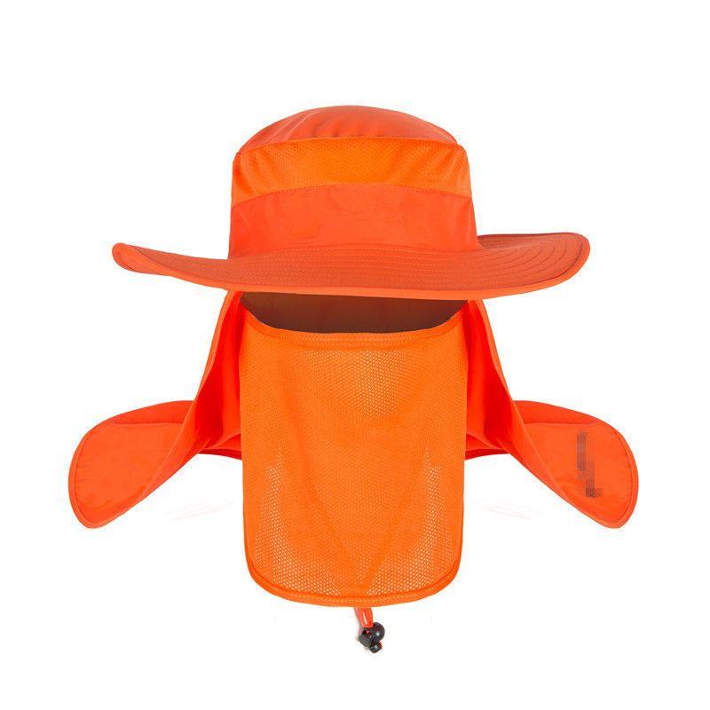 e724d66c8d1 2018 New Summer Wind Proof Sun Hats Spf 30+ Uv Protection Fishing Hat  Fisherman Cap Waterproof Big Bucket Hats With A Wide Brim From Jianpin