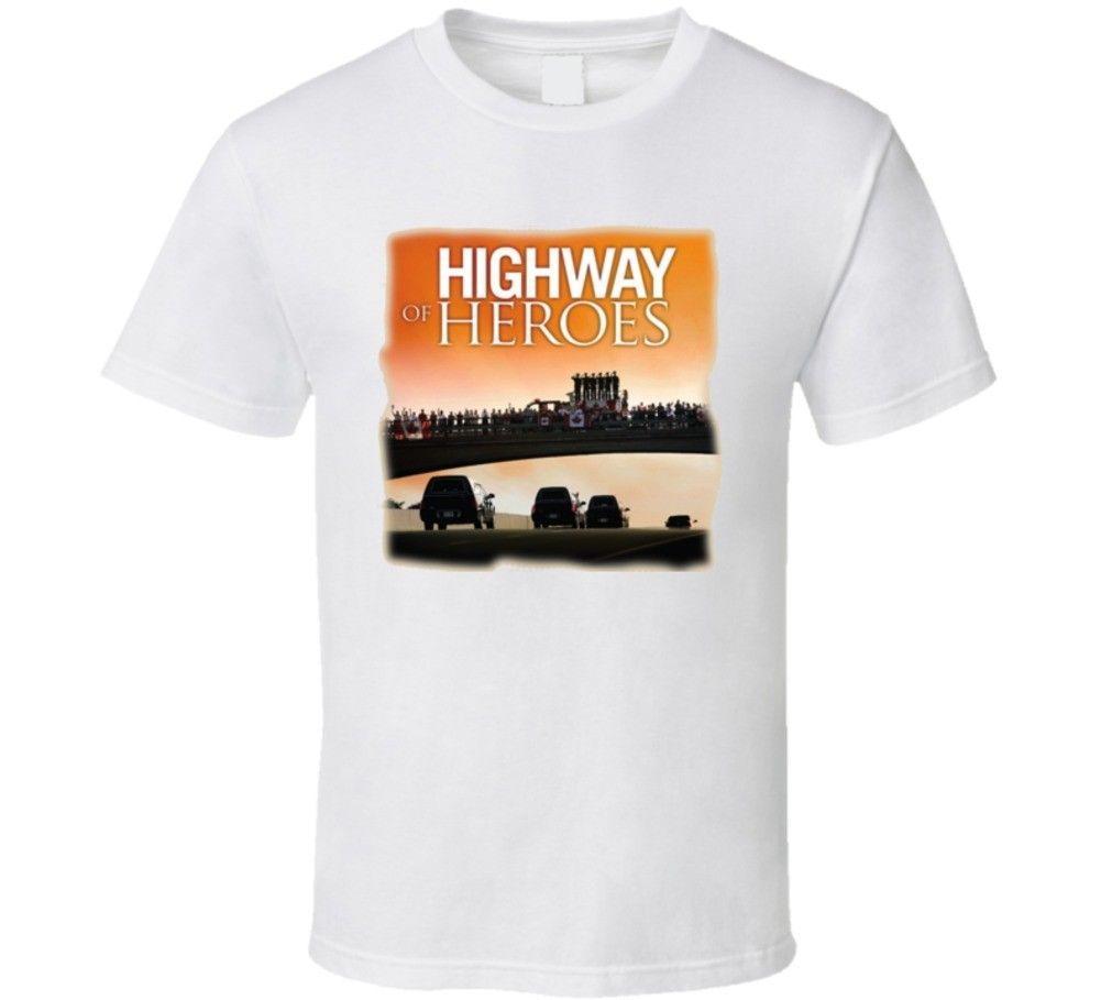 e5a506b7 Highway Of Heroes Canadian Military T Shirt Mens 2018 Fashion Brand T Shirt  O Neck 100%cotton T Shirt Tops Tee Custom Environmental Printed Free T  Shirts T ...