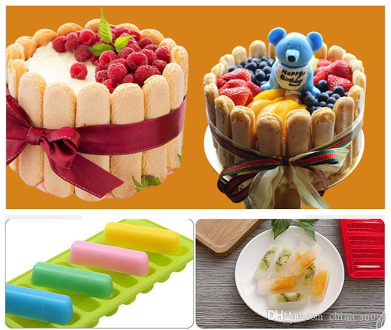 New Food Grade Maker Fondant Cake Tools Finger Shape Tray Freeze Mould Pudding Jelly Biscuit Chocolate Mold