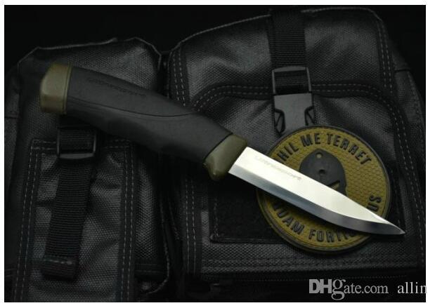 Nova Sobrevivência Faca Reta 12CR27 Lâmina De Cetim de Borracha Lidar Com faca de Mergulho Ao Ar Livre Da Engrenagem Com ABS K Bainha