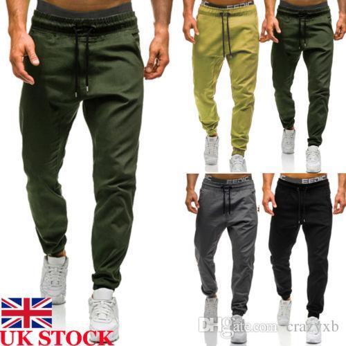 733731e314 Compre 2018 Nuevos Pantalones De Moda Hombres Slim Fit Pantalones De Piernas  Rectas Urbanas Lápiz De Carga Ocasional Pantalones De Cordón Más El Tamaño  M ...
