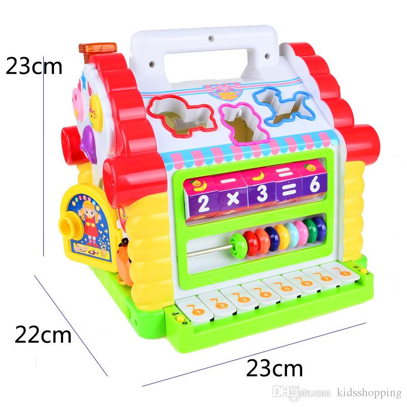 NEW BOHS Multifunctional Musical Toys Colorful Baby Fun House Musical Electronic Geometric Blocks Sorting Learning Educational Toys
