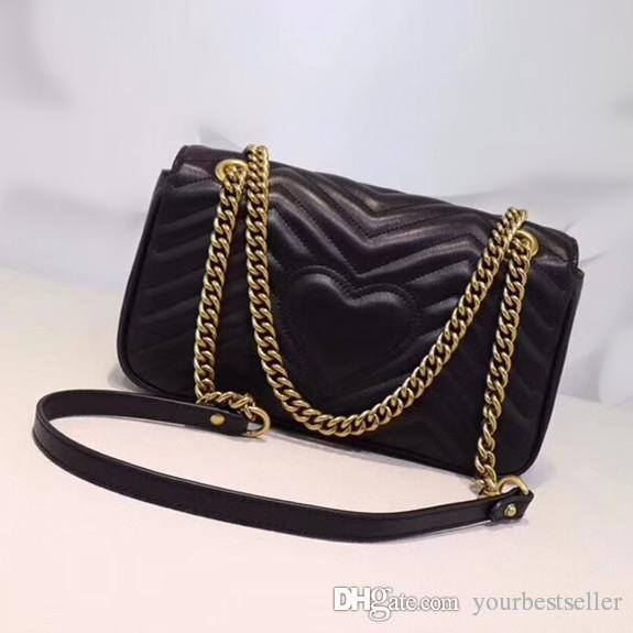 1c56f788dbc6 HOT Sale! Wavy Pattern Quilted Leather Marmont Chain Shoulder Bag Designer  Fashion Crossbody Bag Handbag Purse Patricia Nash Handbags Womens Bags From  ...