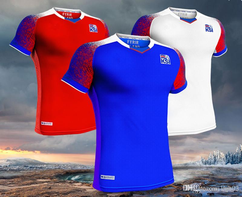 348582f20 2018 World Cup Football Iceland Jersey 10 G.SIGURDSSON 6 GUDMUNDSSON ...