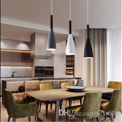 Moderne E27 suspension pour salon salle à manger nouvelle arrivée nordique  pendentif minimaliste créatif lumières bar luminaire