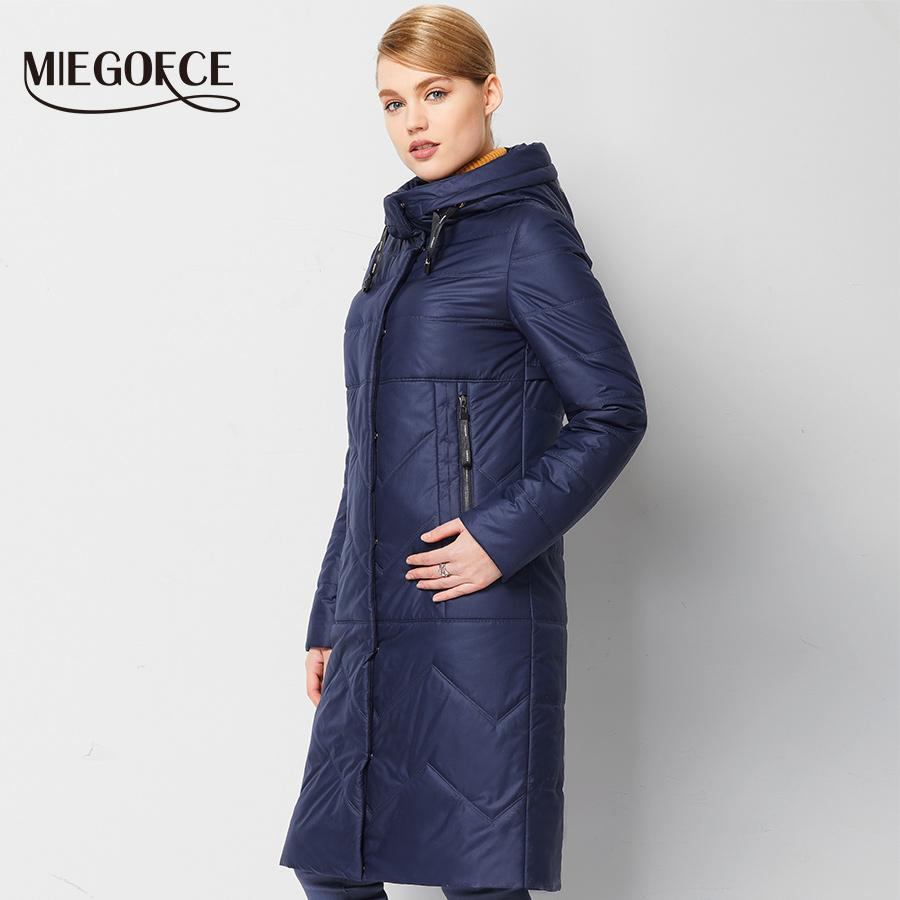 8906b1b31 Wholesale- Spring Women Parkas jackets With Hood Warm High-quality Thin  Cotton-padded Jacket European Windproof Women Quilted Coat MIEGOFCE