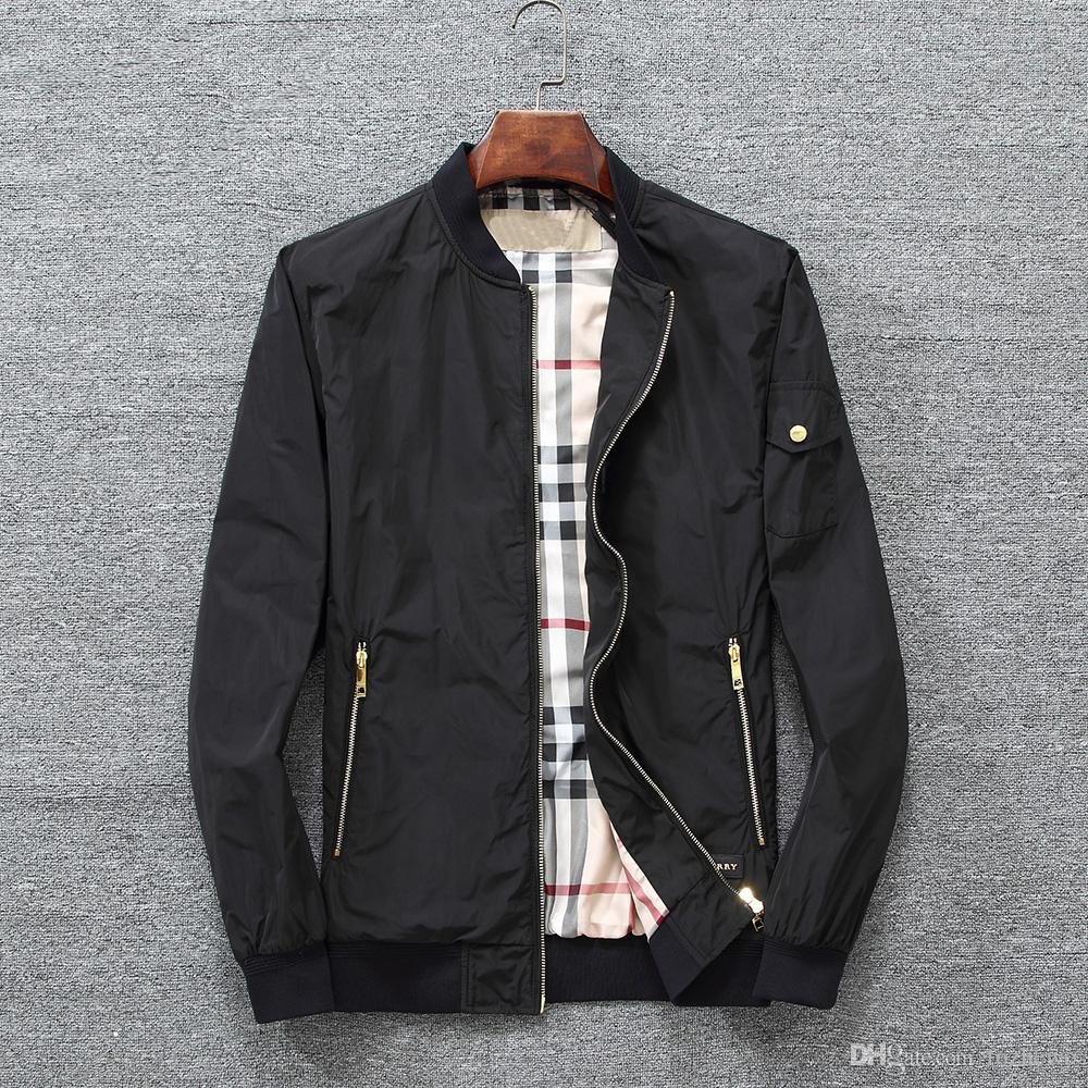 0cc2c5a8 Высокое Качество Куртка Мужчины Осень Новая Мода Тонкие Пальто  Бомбардировщик Slim Fit Плюс Размер Верхняя Одежда Плюс Размер Бренд Одежда
