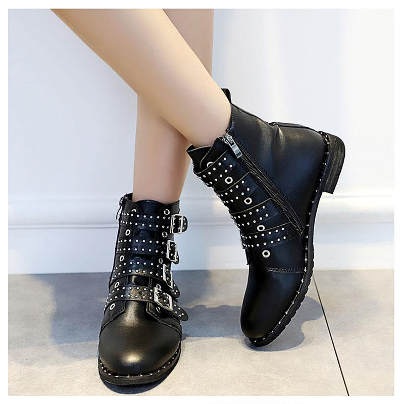 7de85f11359be Fashion Women Boots Doc Martins 2018 British S Vintage Martin Boots Female  Thick Heel Motorcycle Women S Shoes Slipper Boots Ankle Booties From Wearbag