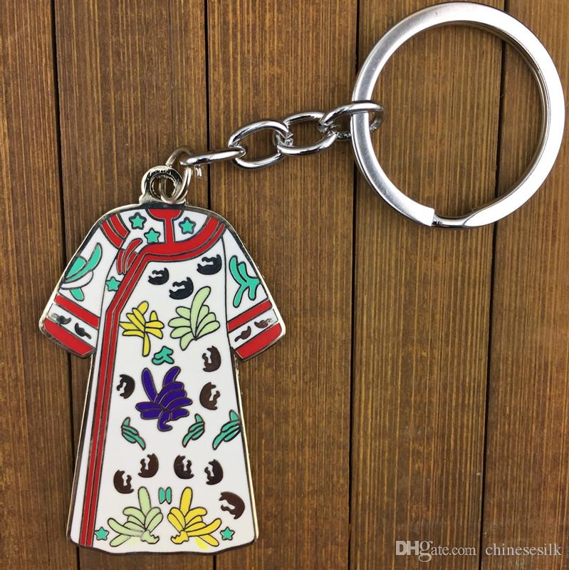 Keychain a forma di vestiti cinesi antichi il pendente chiave chiave / di fascini chiave del pendente della lega di zinco del metallo del regalo di Keyring delle donne