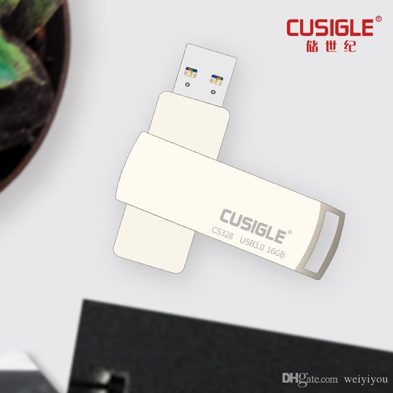 Silver Rectangle Usb Flash Drive 3.0 High Speed Usb Stick Usb Memory Stick For CUSIGLE CS328 Real Capacity
