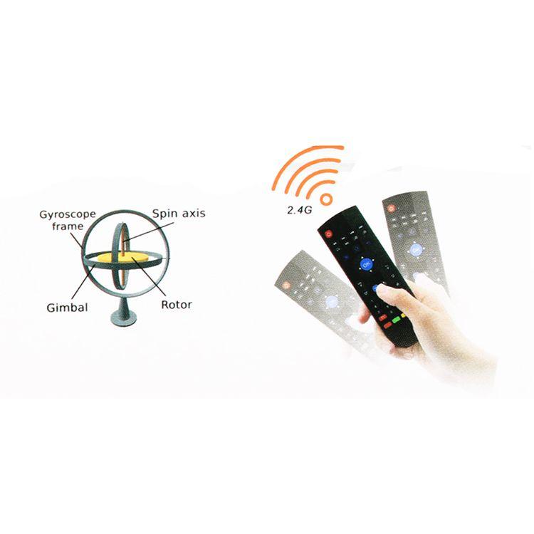 Telecomando senza fili della tastiera del topo dell'aria QWERTY Regolatore a infrarossi multi-media 2.4GHz senza fili la scatola HTPC di Android TV con la scatola al minuto