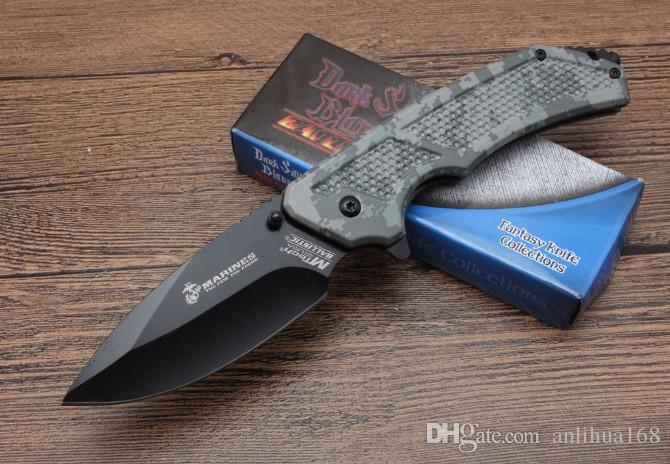2018 nueva navaja MTech MT730 MARINES cuchillo plegable mejores cuchillos de la carpeta de combate EDC pcoket cuchillo 5Cr15Mov hoja 57 HRC precio al por mayor