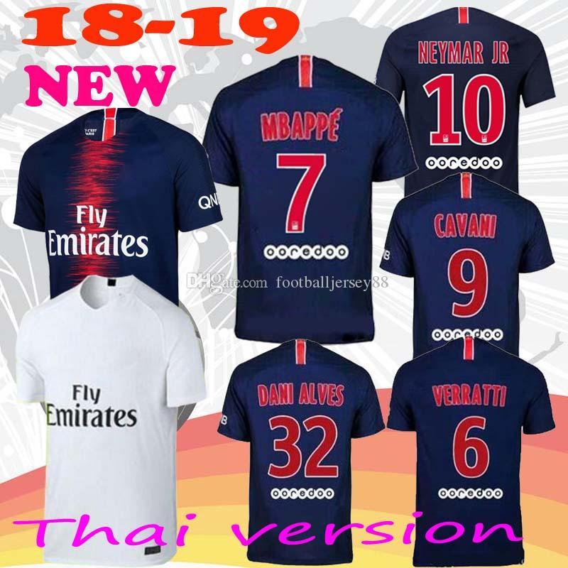18 19 DANI ALVES MBAPPE NEYMAR JR Soccer Jerseys 2018 2019 CAVANI ... 8942a8725
