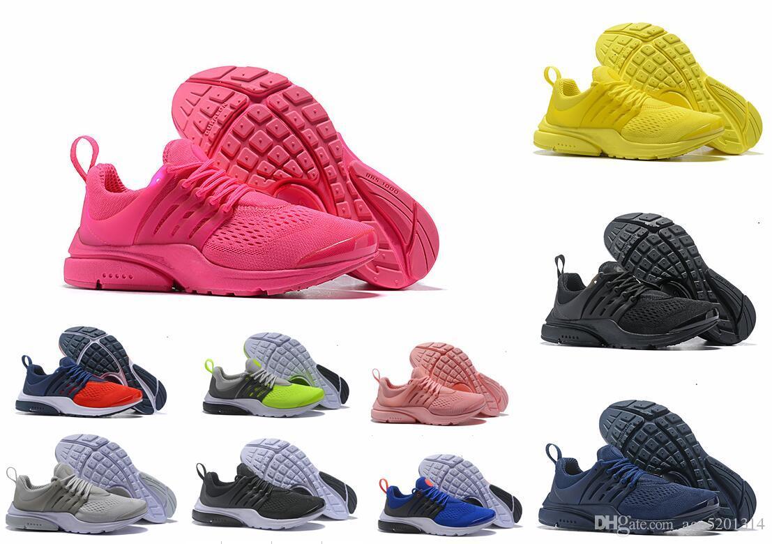 Airs Presto Yellow Black White Running Shoes Men Sneakers Women