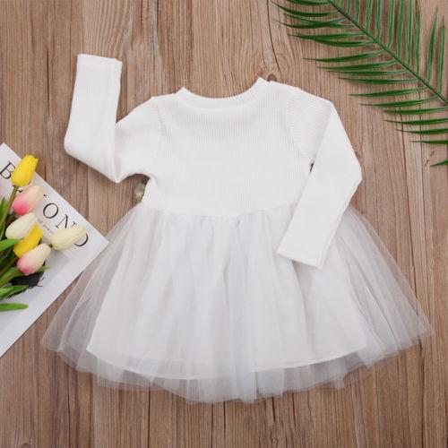 -Baby Girls Dress Cute Flower Birthday Party Princess Pageant Prom Dress 3M-3Y