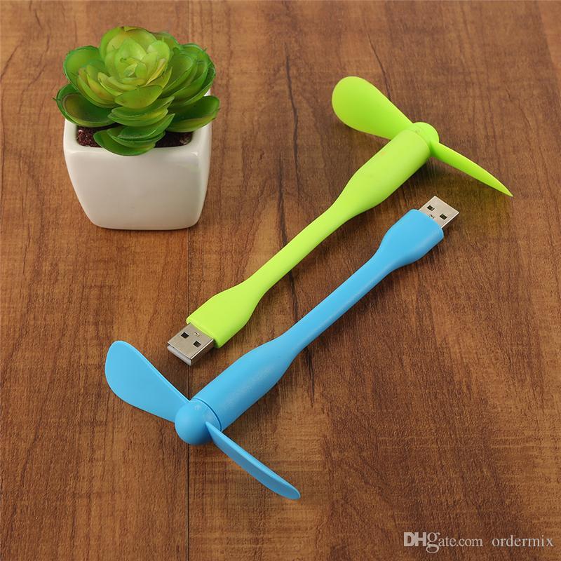 USB Fan Flexible Portable Mini Fan Cooler For Xiaomi Power Bank Notebook Computer Summer Gadget Android Phone PC Laptop Desktop